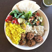 gluten-free plate of tasty Mediterrean food